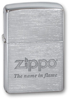 "Зажигалка ZIPPO ""Name in flame"" Brushed Chrome"